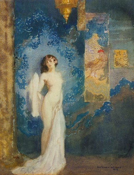 An image of The Japanese panel by Norman Lindsay
