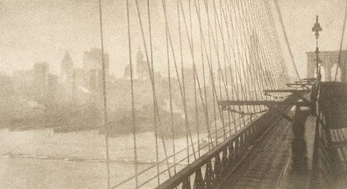 An image of A misty day, New York by George James Morris