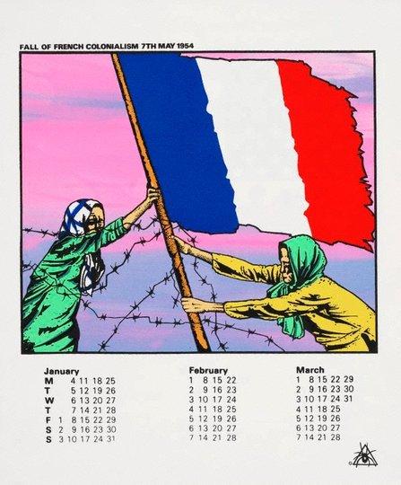 AGNSW collection Redback Graphix, Michael Callaghan, Gregor Cullen Australian Vietnam Society 1982 calendar (1981) 96.1983.a-d
