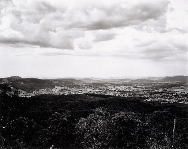 AGNSW collection Peter Elliston View of Tumut from Wereboldera Mountain, Tumut State Forest (1983) 96.1987