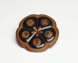 Alternate image of Four-tiered food storage box in shape of five petalled plum blossom by
