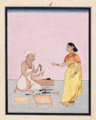 AGNSW collection Company school A carpenter and his wife circa 1770