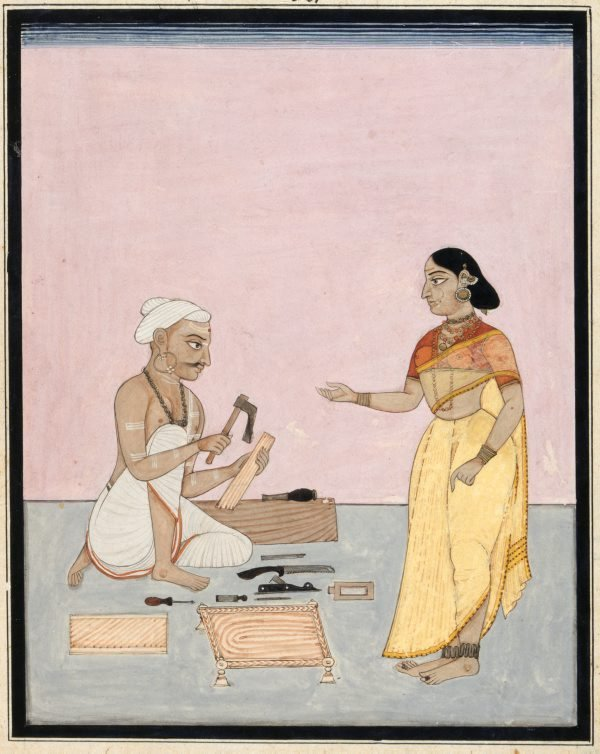 An image of A carpenter and his wife