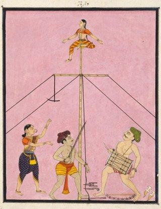 AGNSW collection Company school Itinerant acrobats circa 1770