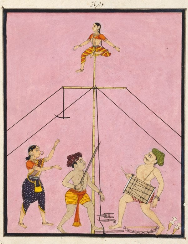 An image of Itinerant acrobats