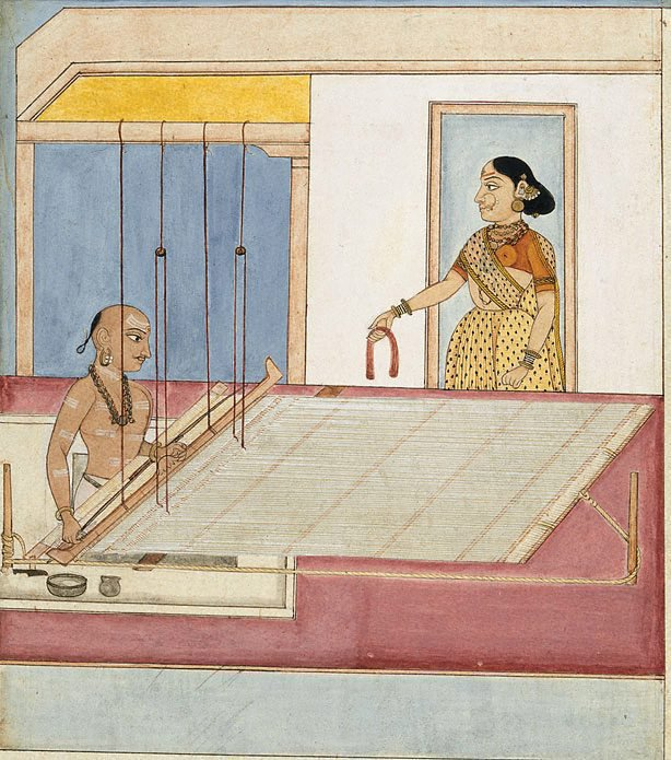 An image of A weaver and his wife