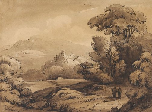 An image of Landscape with castle by James Robertson