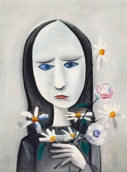 An image of Angry young girl by Charles Blackman
