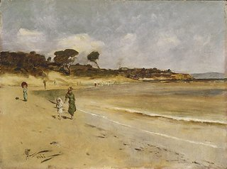 Beach scene, Sandringham, (circa 1889) by Girolamo Nerli
