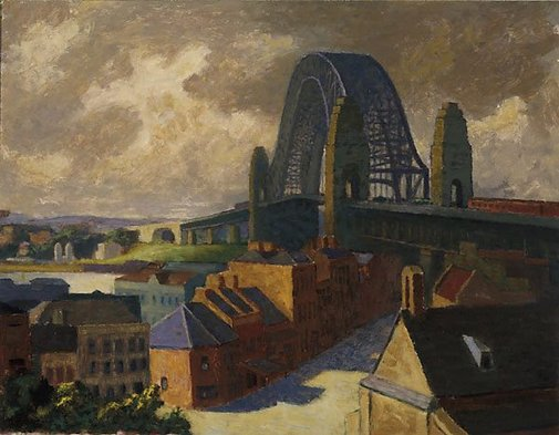 An image of The bridge by Roland Wakelin