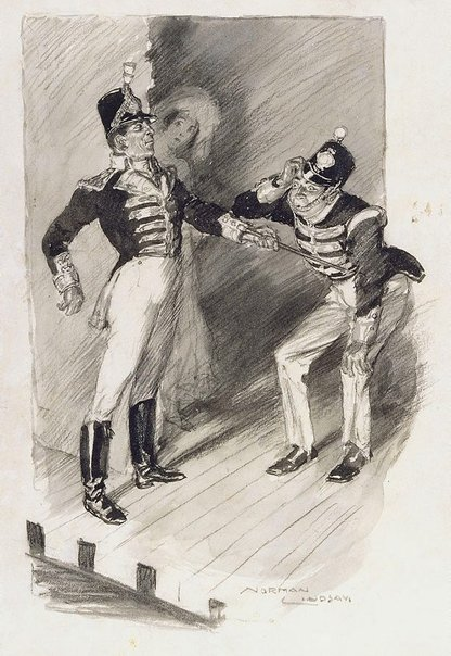 An image of The recruiting officer by Norman Lindsay