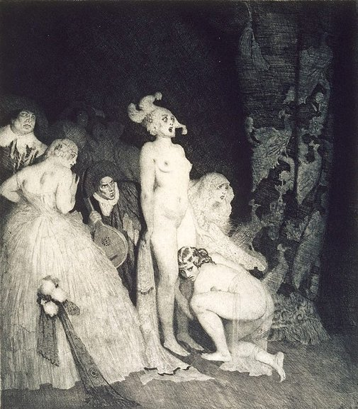 An image of Who comes? by Norman Lindsay