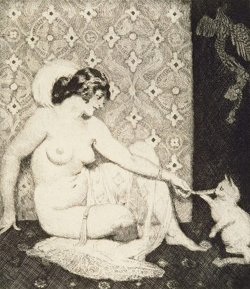 An image of Cats by Norman Lindsay