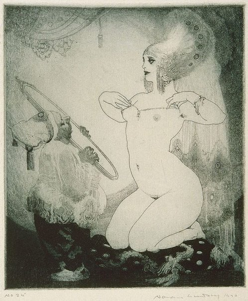 An image of Toilet by Norman Lindsay