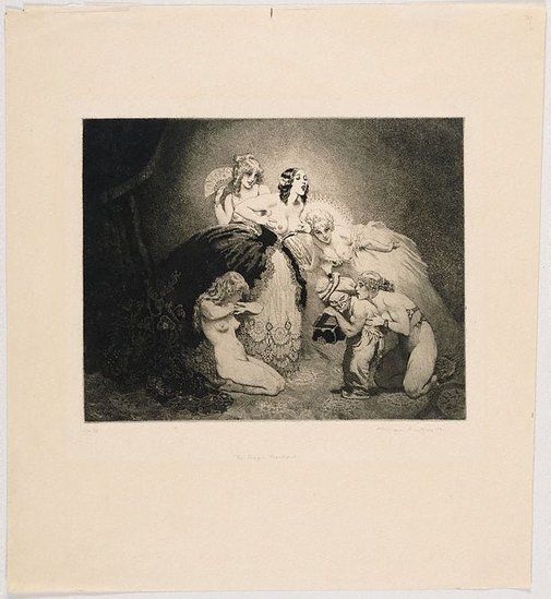 An image of The dream merchant by Norman Lindsay