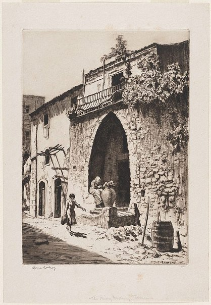 An image of The priory doorway, Taormina by Lionel Lindsay