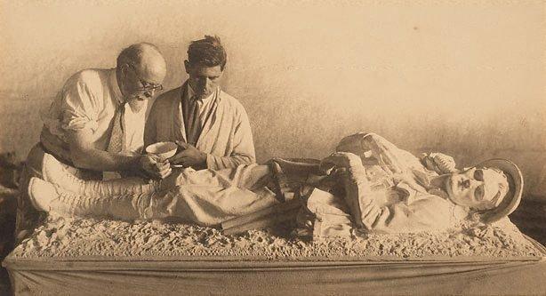 An image of George Lambert with Arthur Murch