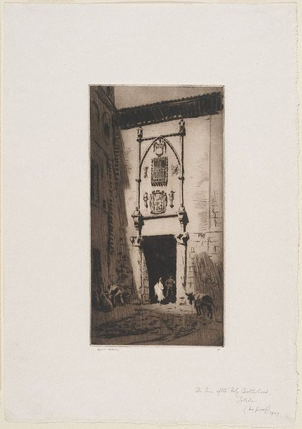 An image of The inn of the holy brotherhood, Toledo by Lionel Lindsay