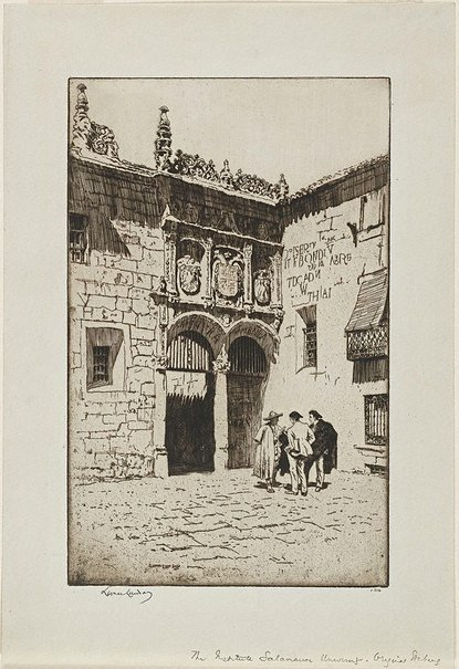 An image of The institute, Salamanca University by Lionel Lindsay
