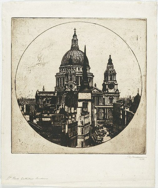 An image of St. Paul's Cathedral, London by Thomas Friedensen