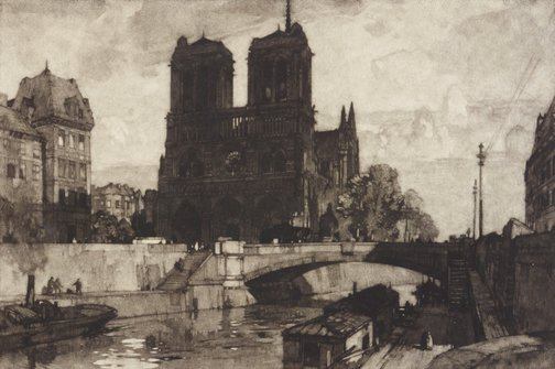 An image of Notre Dame, Paris by Leonard Russell Squirrell