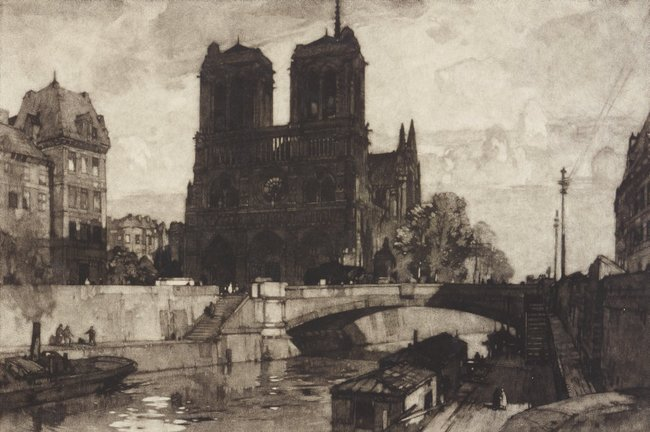 AGNSW collection Leonard Russell Squirrell Notre Dame, Paris 1924