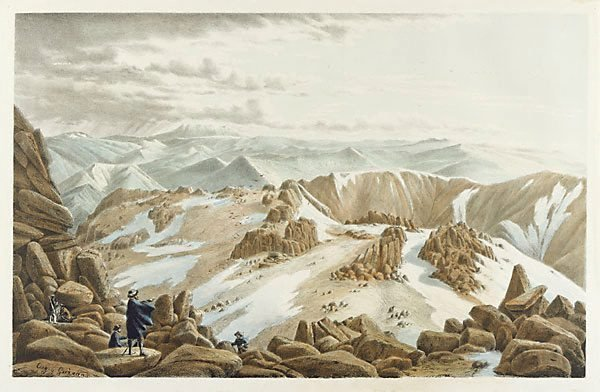 An image of North east view from the top of Mount Kosciusko, New South Wales