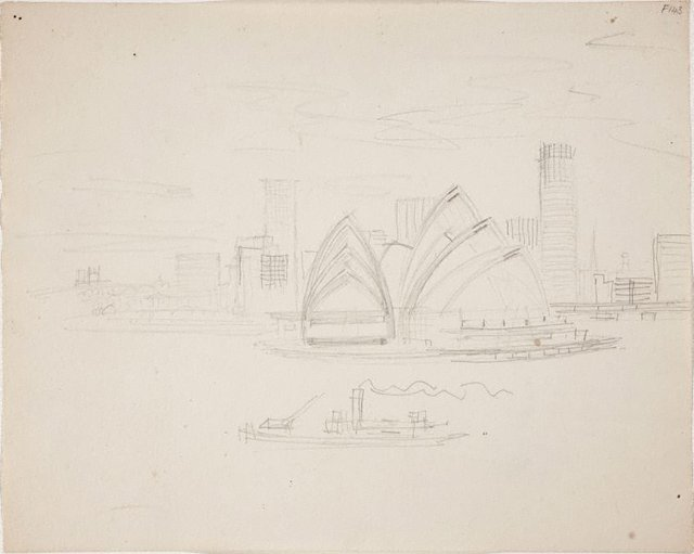 An image of (Opera House with city skyline) (Late Sydney Period)