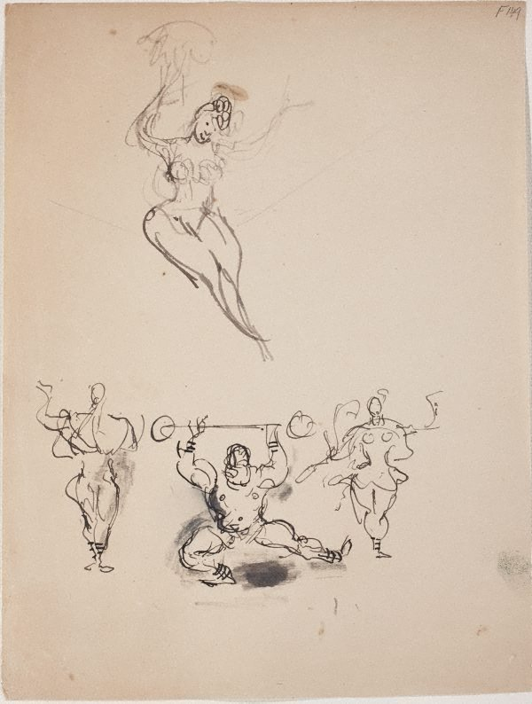 An image of (Studies of circus performers) (Late Sydney Period)