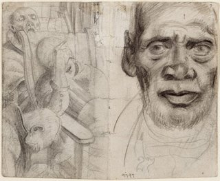 AGNSW collection Eric Wilson recto: Studies of old men verso: (studies of old men) (1943-1945) 9797