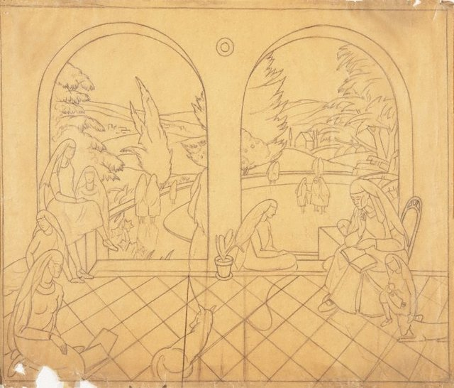 An image of Study for a mural