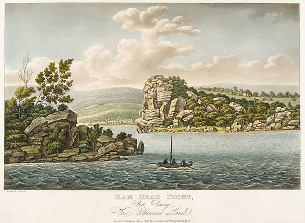 An image of Ram Head Point, Port Davey, Van Diemen's Land