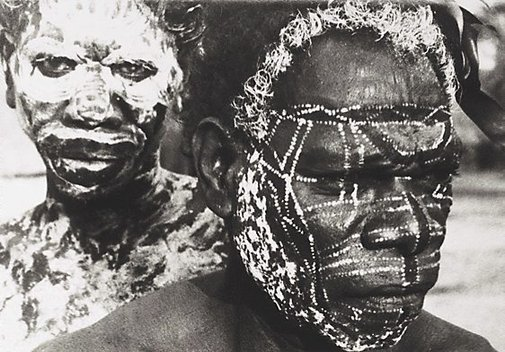 An image of Tiwi tribesmen, Melville Island by Axel Poignant