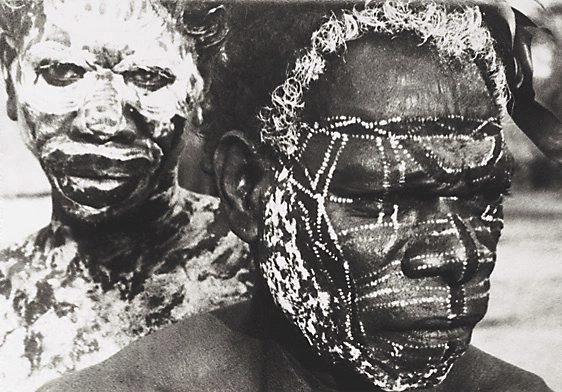 An image of Tiwi tribesmen, Melville Island