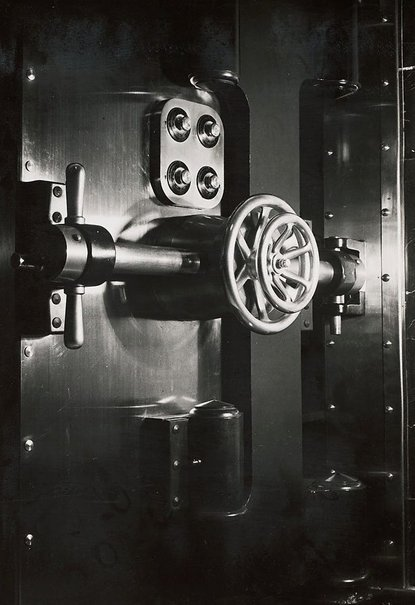 An image of Untitled (detail of machinery) by Max Dupain