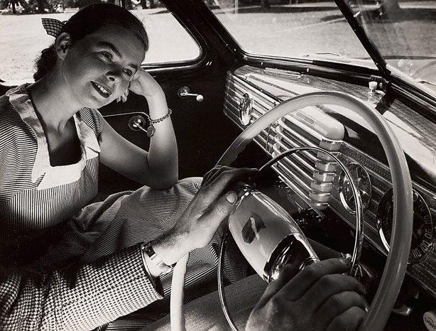 An image of Untitled (woman land car radio)