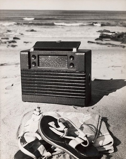 An image of Untitled (Radiola on beach) by Max Dupain