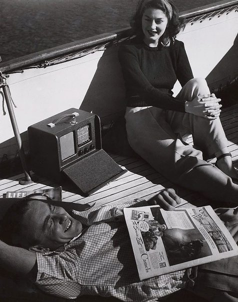 An image of Untitled (radio on boat deck) by Max Dupain
