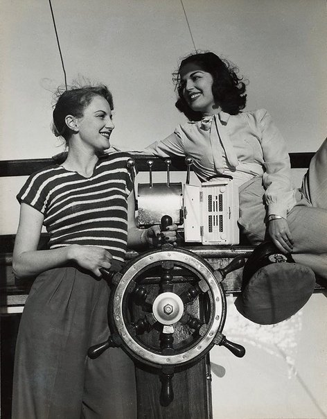 An image of Untitled (radio and boat wheel) by Max Dupain