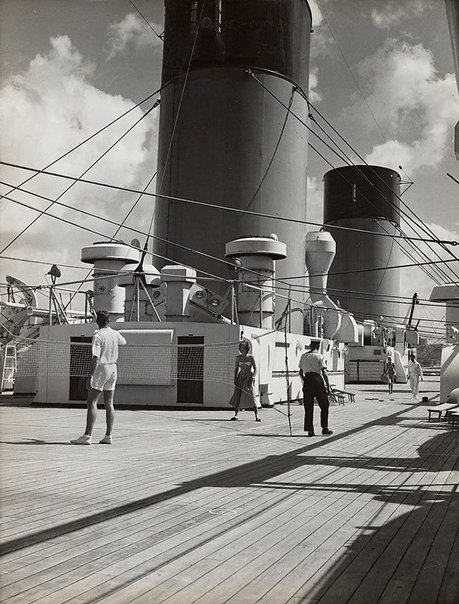 An image of Untitled (on the liners deck) by Max Dupain