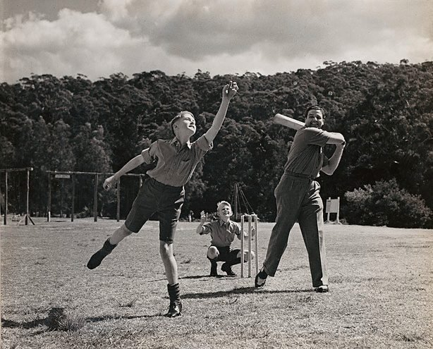 An image of Untitled (playing cricket)
