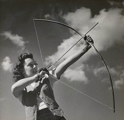 An image of Untitled (woman archer) by Max Dupain