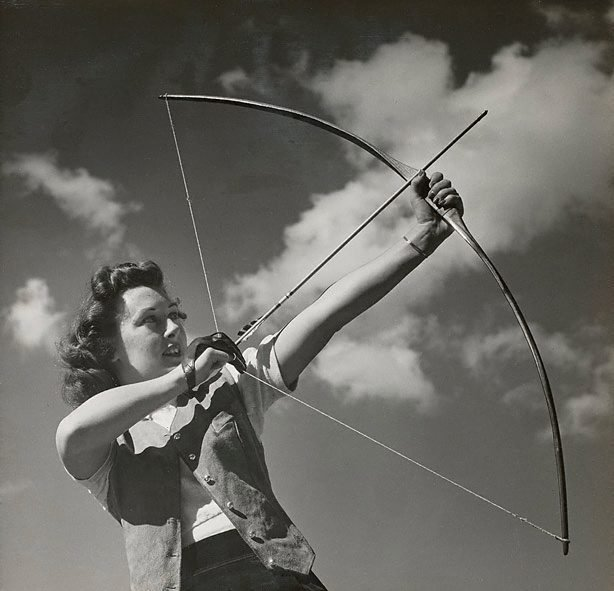 An image of Untitled (woman archer)