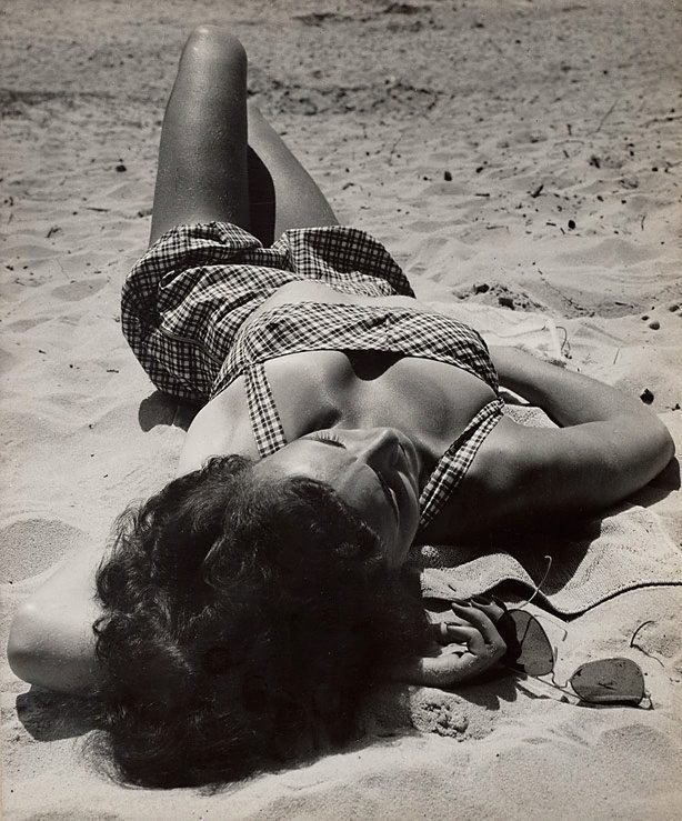 An image of Untitled (woman on beach)