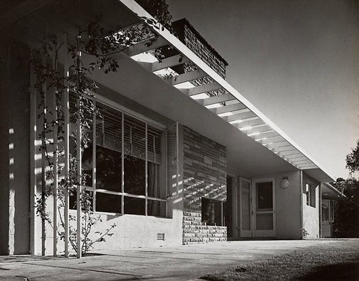 An image of Untitled (detail of house façade) by Max Dupain