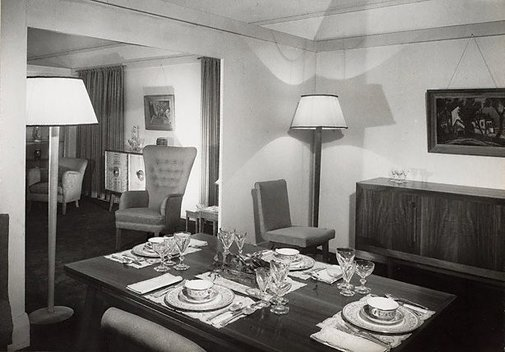 An image of Untitled (dining room) by Max Dupain