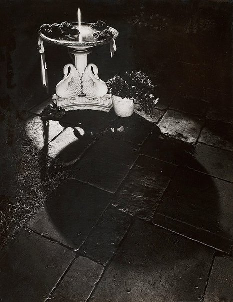 An image of Untitled (fountain at night) by Max Dupain