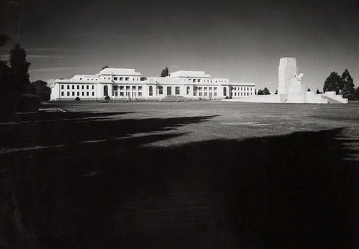 An image of Untitled (Parliament House exterior, Canberra) by Max Dupain
