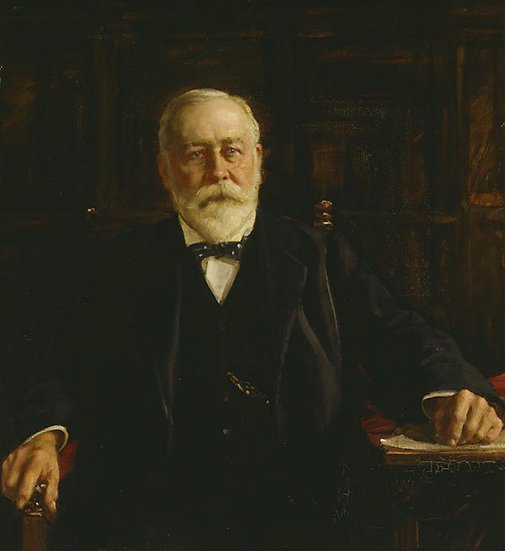 An image of Sir James R. Fairfax by John Longstaff