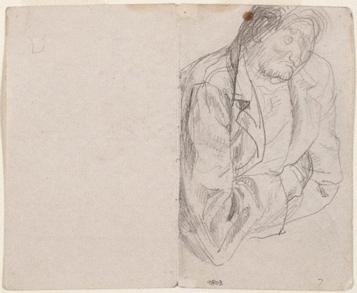 An image of recto: Studies of old men verso: (studies of old men) by Eric Wilson